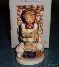 """Be Patient"" Goebel Hummel Figurine TMK6 Girl Feeding Ducks With Origina... - $82.44"