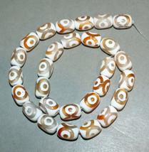 Strand Agate Dzi Stone Amulet Beads Nepal  - $25.00