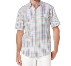 Cubavera Mens Shirt Sz XL White Multi Plaid Cotton Short Sleeve Button D... - $35.17