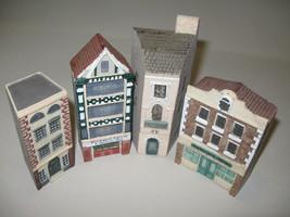 Just Around The Corner Qty 4 Miniature Buildings Ganz 1994 - $15.95