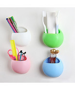 Toothbrush Holder Suction Hooks Cups Organizer ... - $5.77