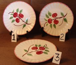 """Blue Ridge Southern Pottery Potteries Cherry Bounce Luncheon Plate 9 3/8"""""""