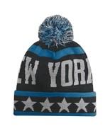New York City Hunter Men's Large Stars Winter Knit Cuffed Pom Beanie Hat... - $11.95