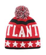 Atlanta City Hunter Men's Large Stars Winter Knit Cuffed Pom Beanie Hat ... - $11.95