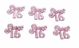 Sweet 16 mini charm ornaments pink capias craft accessories - $2.38+
