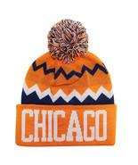 Chicago City Hunter Men's Chevron Zig Zag Winter Knit Cuffed Pom Beanie ... - $11.95