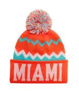 Miami City Hunter Men's Chevron Zig Zag Winter Knit Cuffed Pom Beanie Ha... - $11.95