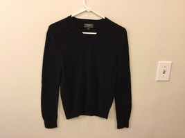 Express Mens Black V-Neck Sweater, Size Small
