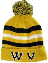 West Virginia WV Men's Winter Knit Cuffed Pom Beanie Toboggan Hat Gold/N... - $11.95
