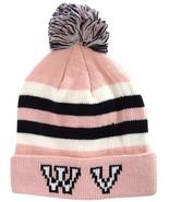 West Virginia WV Men's Winter Knit Cuffed Pom Beanie Toboggan Hat Pink/W... - $11.95