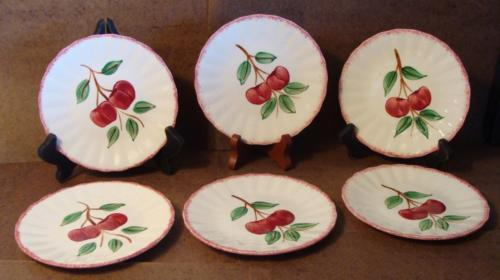 Blue Ridge Southern Pottery Potteries Cherry Bounce Bread Butter Plate 6 1/4""