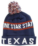 Texas Lone Star State Men's North Bear Winter Knit Cuffed Pom Beanie Hat... - $8.95