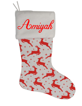 Amiyah Custom Christmas Stocking Personalized Burlap Christmas Decoration - $17.99