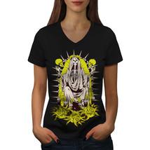 Skull Skeleton Horror Shirt  Women V-Neck T-shirt - $12.99+