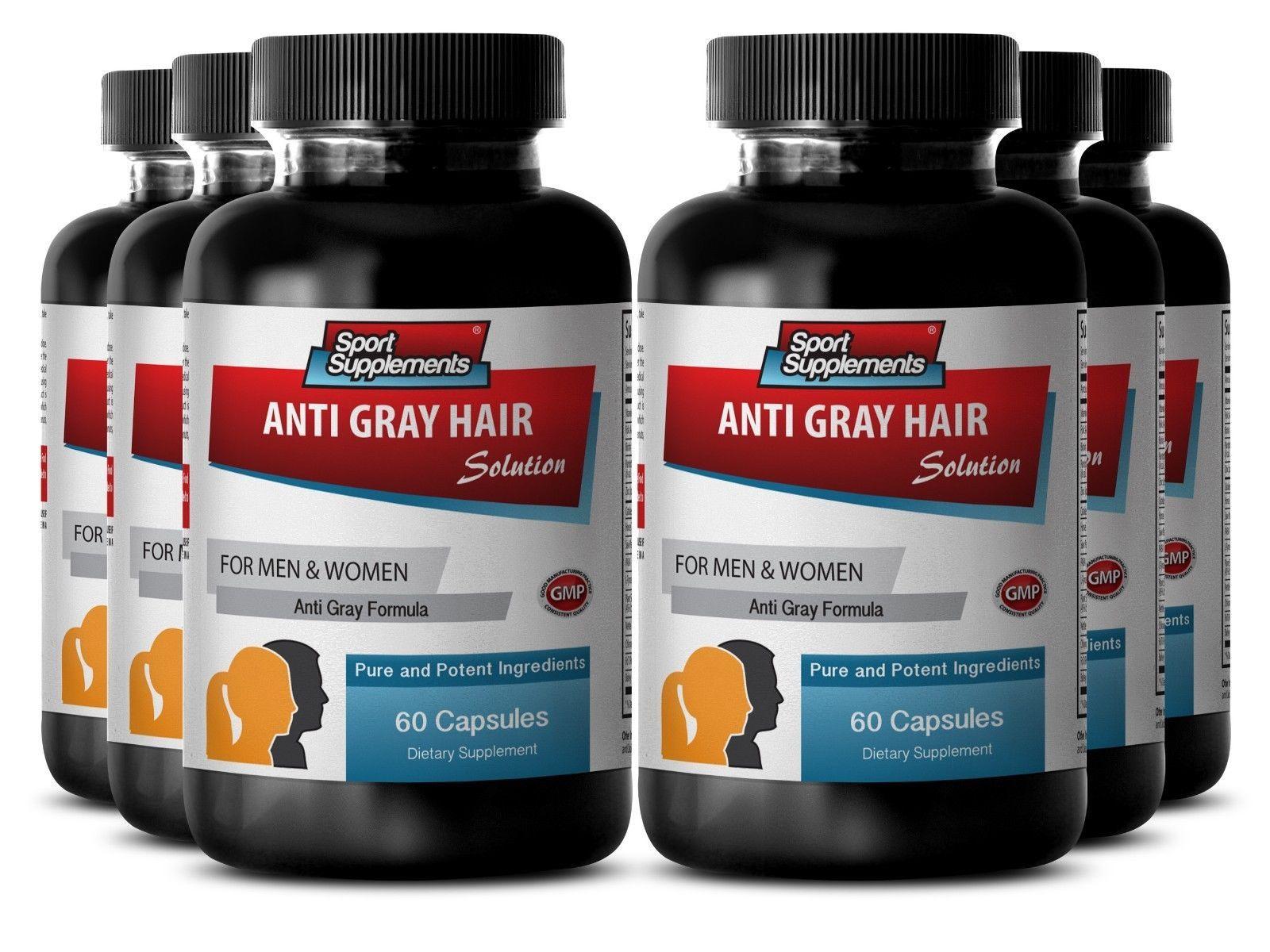 Anti-Graying Supplements - Anti-Gray Hair Solution 1500 - Grey Hair Vitamins 6B