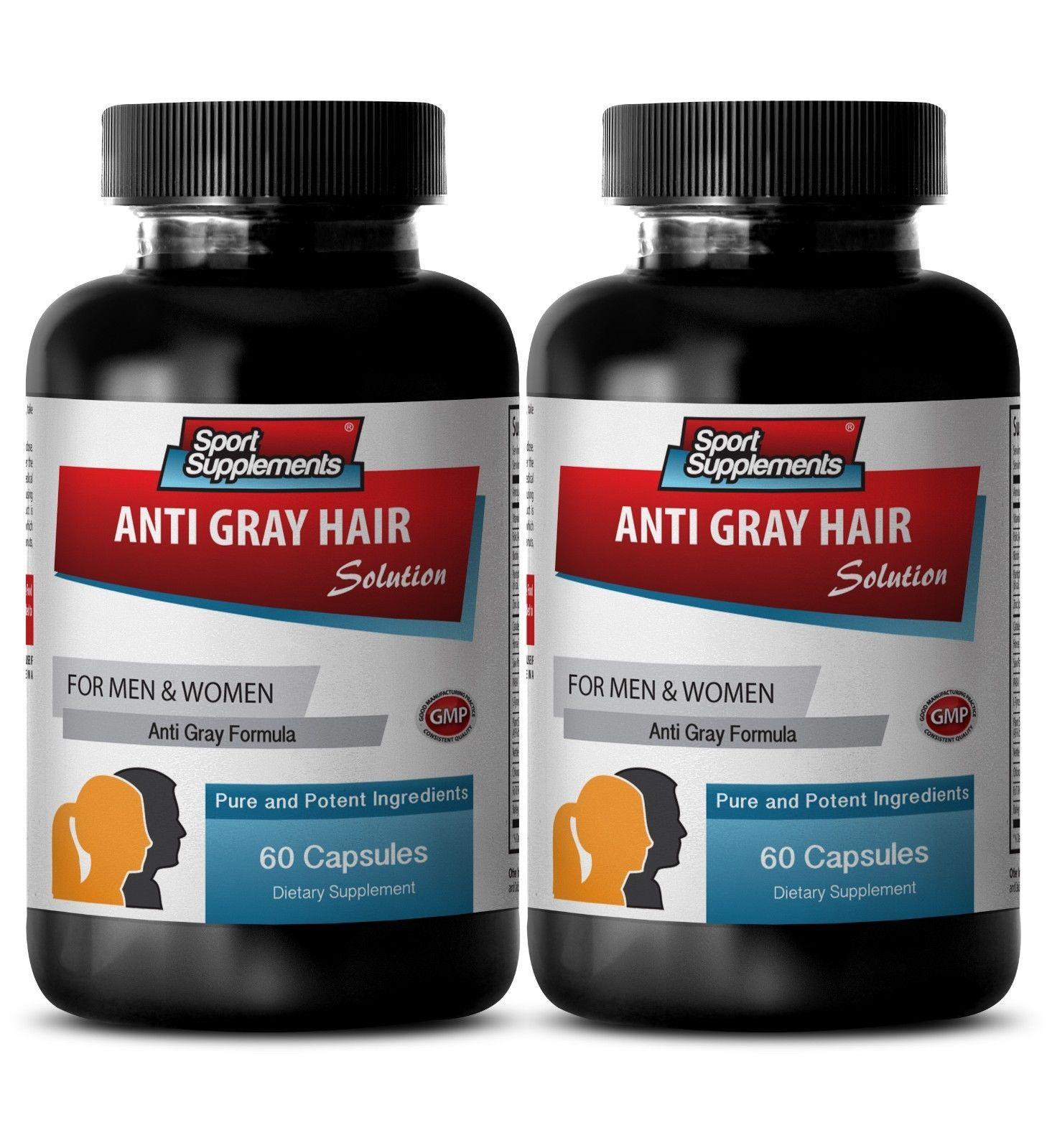 Ability Minimize Stress Caps - Anti-Gray Hair Solution 1500mg - PABA 1000 2B