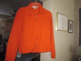 Large Evan Picone Zipper Front Pumpkin Color De... - $9.99