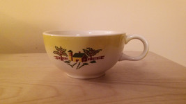Salom Grantcrest COUNTRY CHARM Butter Yellow Farm Scene Coffee Cup - $10.89