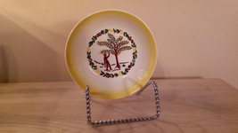 "5 "" diameter  Grant Crest COUNTRY CHARM Butter Yellow Farm Scene Berry B... - $11.29"