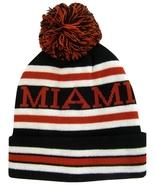 Miami Men's Striped Winter Knit Cuffed Beanie Toboggan Hat Cap Black/Red... - $9.95