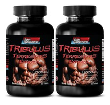 Natural Testosterone Boost - Tribulus Terrestris 1000mg - Male Sex Desire 120Tab - $20.25