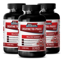 Creatine Tablets - Creatine Tri-Phase 5000 mg - Delay Workout Fatigue 3B - $34.60