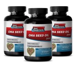 Omega Fatty Acids - Chia Seed Oil 2350mg - Sugar Burner Supplements 3B - $39.11