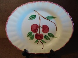 Blue Ridge Southern Pottery Potteries Cherry Bounce Oval Serving Platter 11""