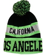Los Angeles California Men's Striped Winter Knit Cuffed Beanie Hat Cap G... - $11.95