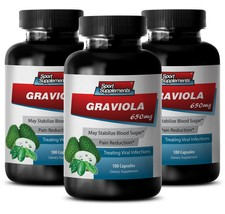 Soursop Leaves - Graviola  650 mg -  May Help Fight Viral Infections Pills 3B - $32.62