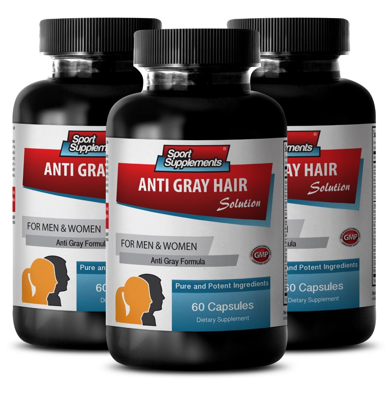 L-Tyrosine - Gray Hair Solution 1500mg - Make Hair Roots Stronger Pills 3B