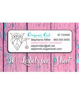 30 Personalized ORIGAMI OWL Catalog Labels or Address Labels, Home Parties - $1.75