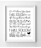 GILMORE GIRLS Print, Where You Lead I Will Follow 8x10 Wall Art PRINT, 7... - $7.00+