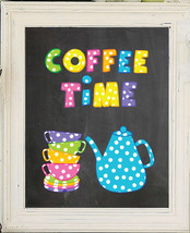 Coffee Time 8x10 Kitchen Wall Art Decor Print - $7.00+