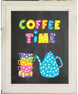 COFFEE TIME 8x10 Kitchen Wall Art Decor PRINT - $7.00+