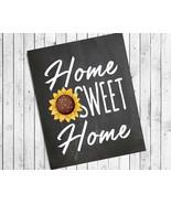 Home Sweet Home 8x10 Sunflower Typography Wall Decor Art Print - $7.00