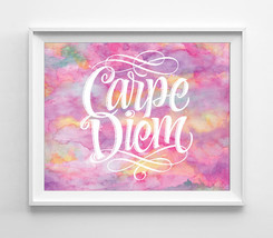 Carpe Diem 8x10 Wall Art Decor Print - $7.00+