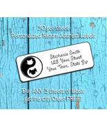 CAT DOG YIN YANG Personalized Return Address Labels - $1.75