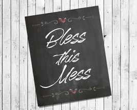 Bless This Mess 8x10 Wall Art Poster Print - $7.00