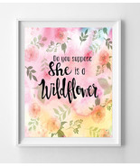 Do You Suppose She is a Wildflower Nursery 8x10 Wall Art Decor Watercolo... - $7.00+
