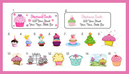 CUPCAKE Personalized ADDRESS LABELS - Many Cupcake Designs - $1.75