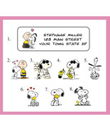 SNOOPY Personalized Return ADDRESS Labels - $1.75