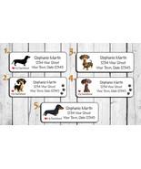 Dachshund Return Address Labels, I Love my Dachshund, Dog Labels - $1.75