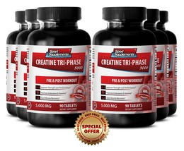 Tri-Phase Creatine 5000mg - Monohydrate, Phosphate, Pyruvate - Increase Power 6B - $64.30