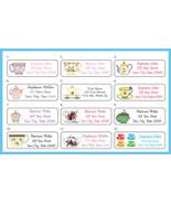 TEA CUPS, TEACUPS Return Address Labels - $1.75
