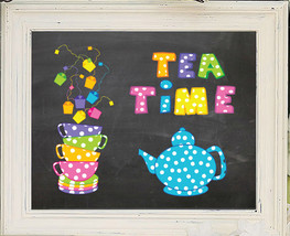 Tea Time 8x10 Kitchen Wall Art Decor Print - $7.00+