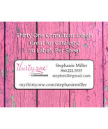 THIRTY-ONE Consultant CATALOG/Address LABELS, 30 Personalized Return Add... - $1.75