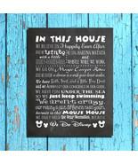 WE DO DISNEY - MOUSE HOUSE RULES Digital Design Typography Art - NO FRAME - $7.00