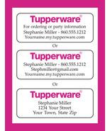 TUPPERWARE Representative CATALOG or Address LABELS, Home Parties - $1.75