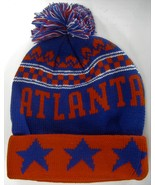 Atlanta Men's Thick Warm Winter Knit Cuffed Beanie Toboggam Hat Red/Roya... - $11.95